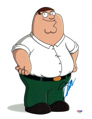 Seth MacFarlane (Peter) Signed Family Guy Authentic 11x14 Photo PSA/DNA #AB31961