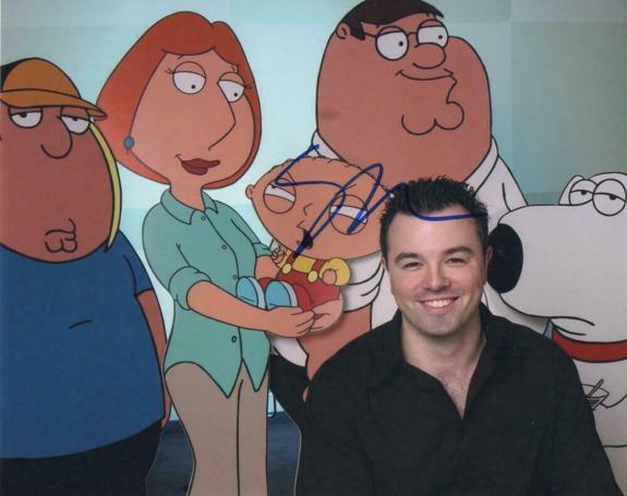Seth Macfarlane Signed Autograph 8x10 Photo - Family Guy Creator, Ted Star, Rare