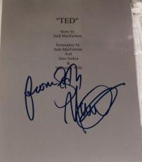 "Seth Macfarlane Signed Autograph ""ted"" Full 130 Page Bound Movie Script With Coa"
