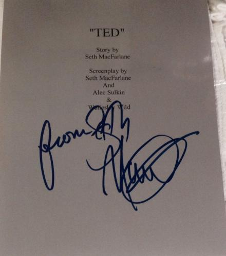 """Seth Macfarlane Signed Autograph """"ted"""" Full 130 Page Bound Movie Script With Coa"""