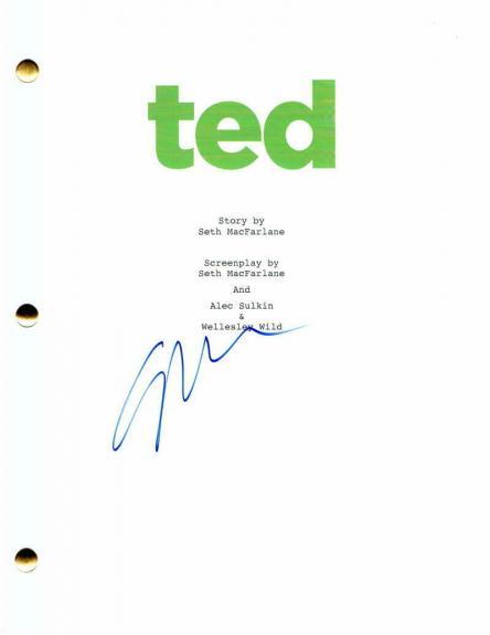 Seth Macfarlane Signed Autograph Ted Full Movie Script - Family Guy Creator Stud