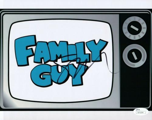 Seth MacFarlane Signed Autographed 8X10 Photo Family Guy TV Set Logo JSA S71554