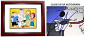 Seth Macfarlane Signed - Autographed Family Guy Creator and Voice Actor 11x14 inch Photo MAHOGANY CUSTOM FRAME - Guaranteed to pass PSA/DNA or JSA
