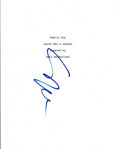 Seth MacFarlane Signed Autographed FAMILY GUY Pilot Episode Script COA VD