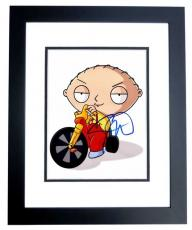Seth Macfarlane Signed - Autographed FAMILY GUY STEWIE 8x10 inch Photo BLACK CUSTOM FRAME - Guaranteed to pass PSA or JSA - Creator and Voice Actor