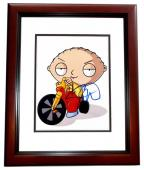 Seth Macfarlane Signed - Autographed FAMILY GUY STEWIE 8x10 inch Photo MAHOGANY CUSTOM FRAME - Guaranteed to pass PSA or JSA - Creator and Voice Actor