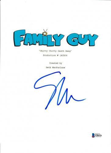 Seth Macfarlane Signed Family Guy Script Authentic Autograph Beckett Coa