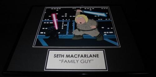 Seth MacFarlane Signed Framed 16x20 Photo Display JSA Family Guy Blue Harvest