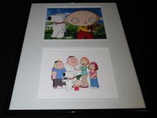 Seth MacFarlane Signed Framed 16x20 Photo Set JSA Family Guy Brian Stewie