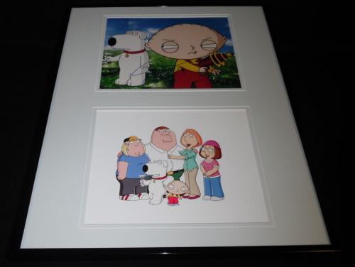 Seth MacFarlane Signed Framed 16x20 Photo Set JSA Family Guy Brian Stewie