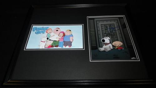Seth MacFarlane Signed Framed 16x20 Photo Set JSA Family Guy Brian & Stewie