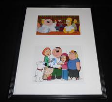 Seth MacFarlane Signed Framed 16x20 Photo Set JSA Family Guy w/ Homer Simpson
