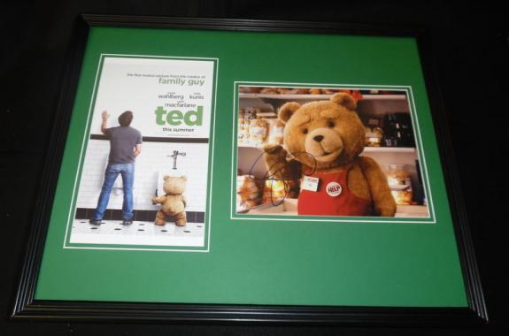 Seth MacFarlane Signed Framed 16x20 Photo Set JSA Ted Family Guy
