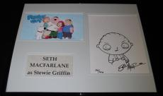 Seth Macfarlane Signed Framed 16x20 Stewie Griffin Sketch Display 186/300
