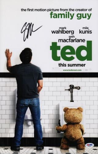 Seth Macfarlane Signed Ted 11x17 Movie Poster Psa Coa Ad48191
