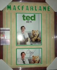 Seth Macfarlane Ted Movie Signed Autographed Double Matted & Framed Jsa Coa