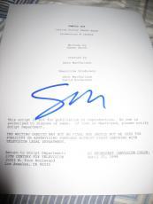 """Seth Mcfarlane Signed Movie Script """"family Guy"""" Script In Person Coa Rare Stewie"""