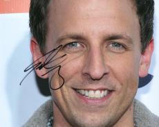 Seth Meyers Autographed Signed Smiling Photo UACC RD AFTAL