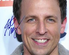 Seth Meyers Autographed Signed SNL Photo UACC RD AFTAL