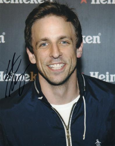 Seth Meyers Signed 8x10 Photo w/COA Late Night With Seth Meyers
