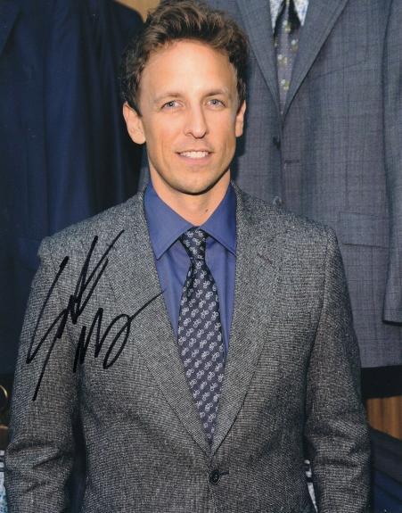 Seth Meyers Signed 8x10 Photo w/COA Late Night With Seth Meyers #2