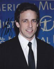 Seth Meyers Signed 8x10 Photo w/coa SNL Saturday Live A