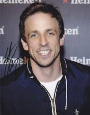 Seth Meyers Signed 8x10 Photo w/coa SNL Saturday Live B
