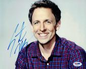 Seth Meyers Signed Authentic Autographed 8x10 Photo PSA/DNA #AB35611