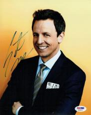 Seth Meyers Signed Authentic Autographed 8x10 Photo PSA/DNA #AB35613