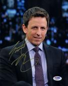 SETH MEYERS SIGNED AUTOGRAPHED 8x10 PHOTO LATE NIGHT SNL WEEKEND UPDATE PSA/DNA
