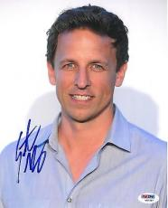 Seth Meyers Signed Late Night Authentic Autographed 8x10 Photo (PSA/DNA) #V87587