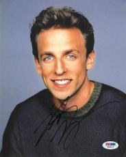 Seth Meyers Signed SNL Authentic Autographed 8x10 Photo (PSA/DNA) #H88516