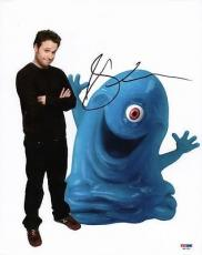 Seth Rogen Monsters Vs Aliens Signed 11x14 Photo Psa/dna #m97281