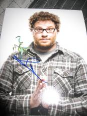 SETH ROGEN SIGNED AUTOGRAPH 8x10 PHOTO MONSTERS ALIENS IN PERSON COA D