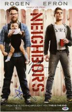 Seth Rogen & Zac Efron signed Neighbors 11x17 photo poster! PSA COA!
