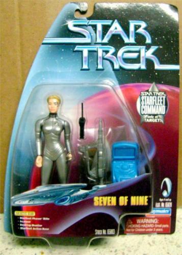 Seven of Nine Star Trek Voyager Toy Figure in Box Jeri Ryan 4 inches 1998 Starfleet Command