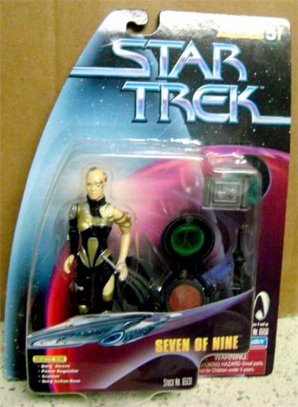 Seven of Nine Star Trek Voyager Toy Figure in Box Jeri Ryan 4 inches 1998 Warp Factor series 5