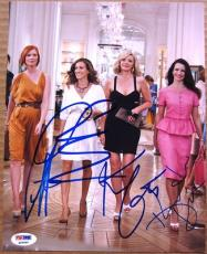 Sex and the City 4x Cast 8x10 photo PSA/DNA Parker Nixon Cattrall Davis