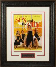 Sex and the City unsigned 22X30 Masterprint Poster Leather Framed w/ Kristin Davis & Cynthia Nixon (entertainment/photo)