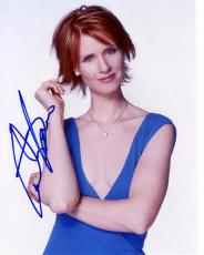 Sex Cynthia Nixon Autographed Signed Sexy Photo & Proof    AFTAL