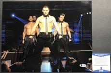SEXY! Channing Tatum 21 JUMP STREET Signed MAGIC MIKE 11x14 Photo #1 Beckett BAS