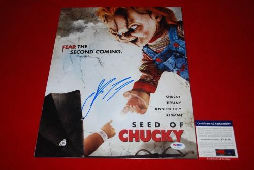 sexy JENNIFER TILLY poker signed PSA/DNA 11X14 photo bride of chucky 13