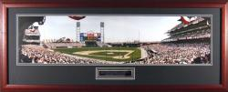 San Francisco Giants Inaugural Game at Pac Bell Park Framed Unsigned Panoramic Photograph with Suede Matte