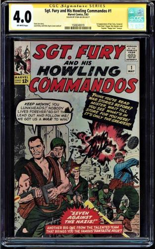 Sgt Fury & His Howling Commandos #1 (1963) Cgc 4.0 Ss Stan Lee Cgc #1508240019