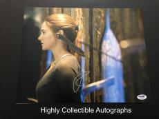 Shailene Woodley Signed 11x14 Photo Psa Dna Coa Autograph Divergent Tris