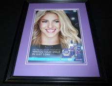 Shakira Facsimile Signed Framed 11x14 2014 Crest Advertising Display