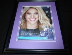 Shakira Facsimile Signed Framed 11x14 2014 Crest Advertising Display