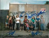 SHAMELESS cast signed 8X10 photo GALLAGHER'S (PROOF) W/COA CARL IAN LIP DEBS #3