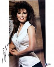 "Shania Twain Autographed 8"" x 10"" White Dress Photograph -BAS COA"