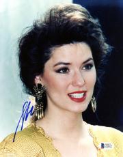 "Shania Twain Autographed 8""x 10"" Gold Earrings Photograph - Beckett COA"